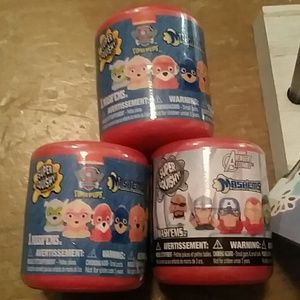 mashems collectable  AVENGERS & paw patrol 3ct new